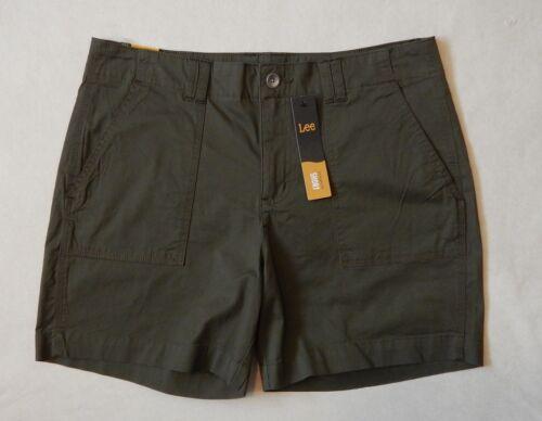 NEW Lee Straight Fit Womens Khaki Grey Olive Green Black Shorts Sizes 4-18
