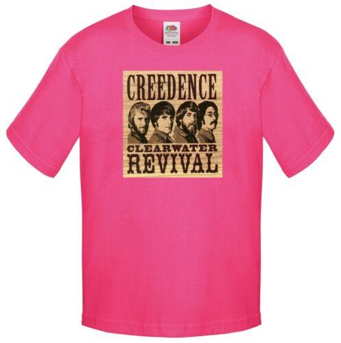 Creedence CLEARWATER REVIVAL CCR anni/'60 anni/'70 Rock T Shirt per bambini Bambino Taglia