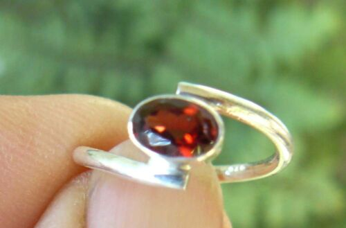 Garnet Sterling Silver Ring Varied designs Small and Child Sizes Red Faceted