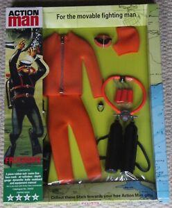 Carte de plongeur Frogman orange vintage Action Man 40e anniversaire en boîte