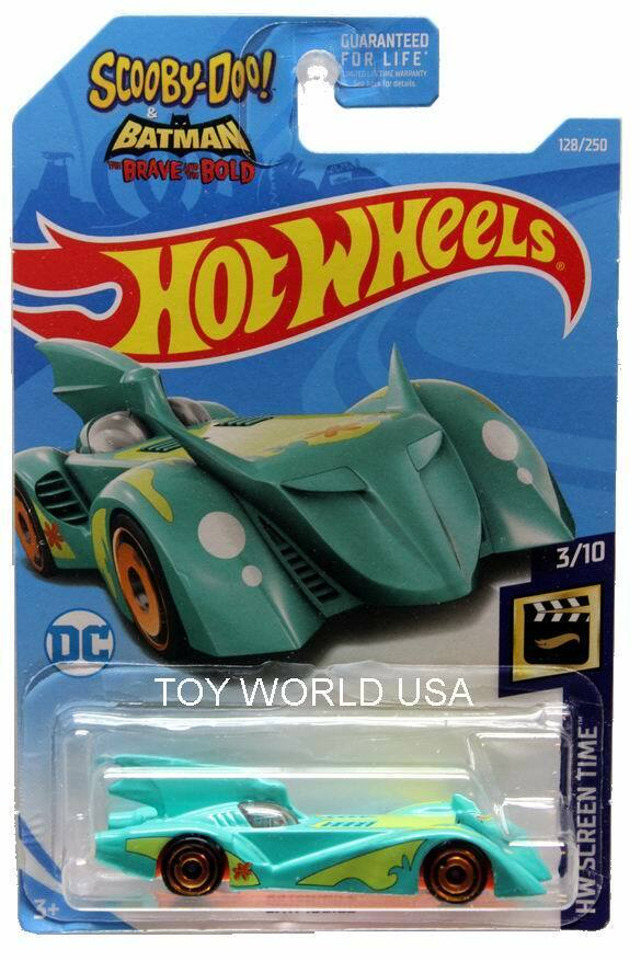 Card #128 HW Screen Time Scooby Doo 2019 Hot Wheels Batmobile