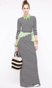 db27faaf053 J.CREW Collection Long Sleeve Striped Maxi Dress Long Navy Stripe Sz ...