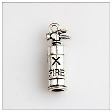 10 Fire extinguisher Tibetan Silver Charms Jewelry Making Findings HN136