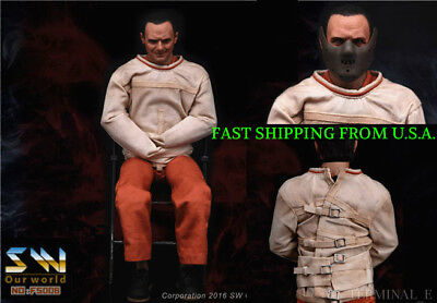 Hannibal Anthony Hopkins Figure Full Set ❶USA❶ 1//6 The Silence of the Lambs Dr