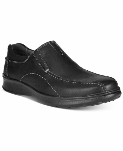 CLARKS Loafer SLIP ON COTRELL STEP Casuals Shoes Black Oily Leather Men/'s