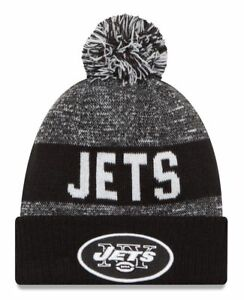 bb211f6d4 Details about NWT NEW YORK JETS NFL NEW ERA OFFICIAL SIDELINE BEANIE SPORT  KNIT HAT BLACK