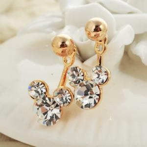 BijouxToutMimi ♥Ƹ̵̡Ӝ̵̨̄Ʒ♥ Magnifiques boucles d/'oreilles style Mickey diamanté