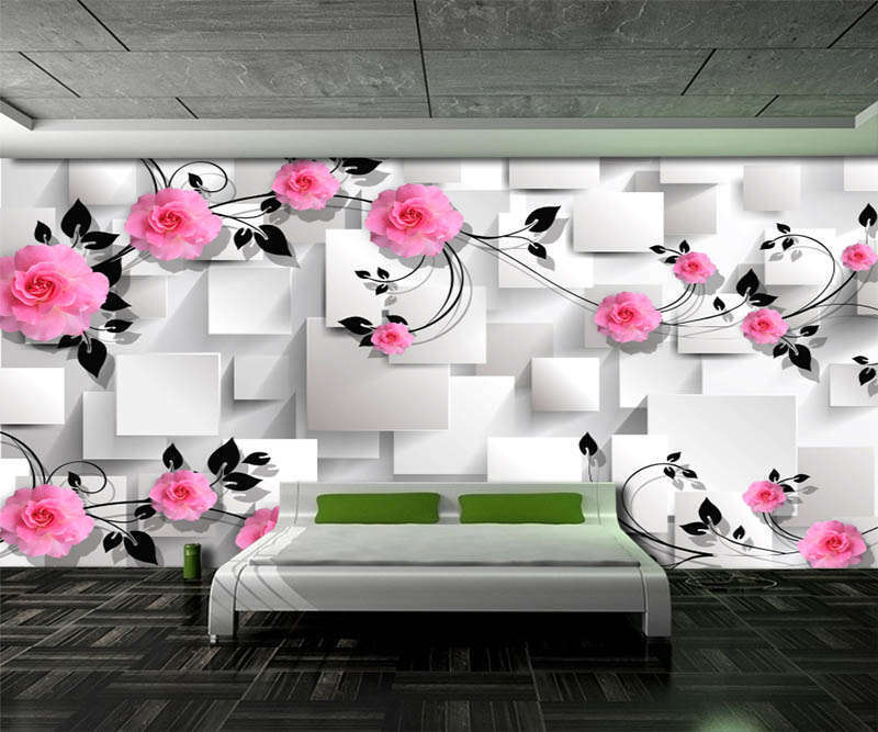 Sincere Pure Rose 3D Full Wall Mural Photo Wallpaper Printing Home Kids Decor
