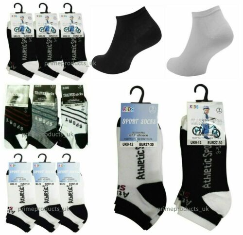 Kids Trainer Socks Unisex Boys Girls Invisible Ankle Cotton Footwear