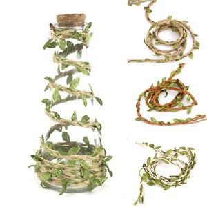 Am-JW-1-Roll-Durable-Cloth-Rope-Artificial-Green-Leaves-Rattan-DIY-Craft-Decor