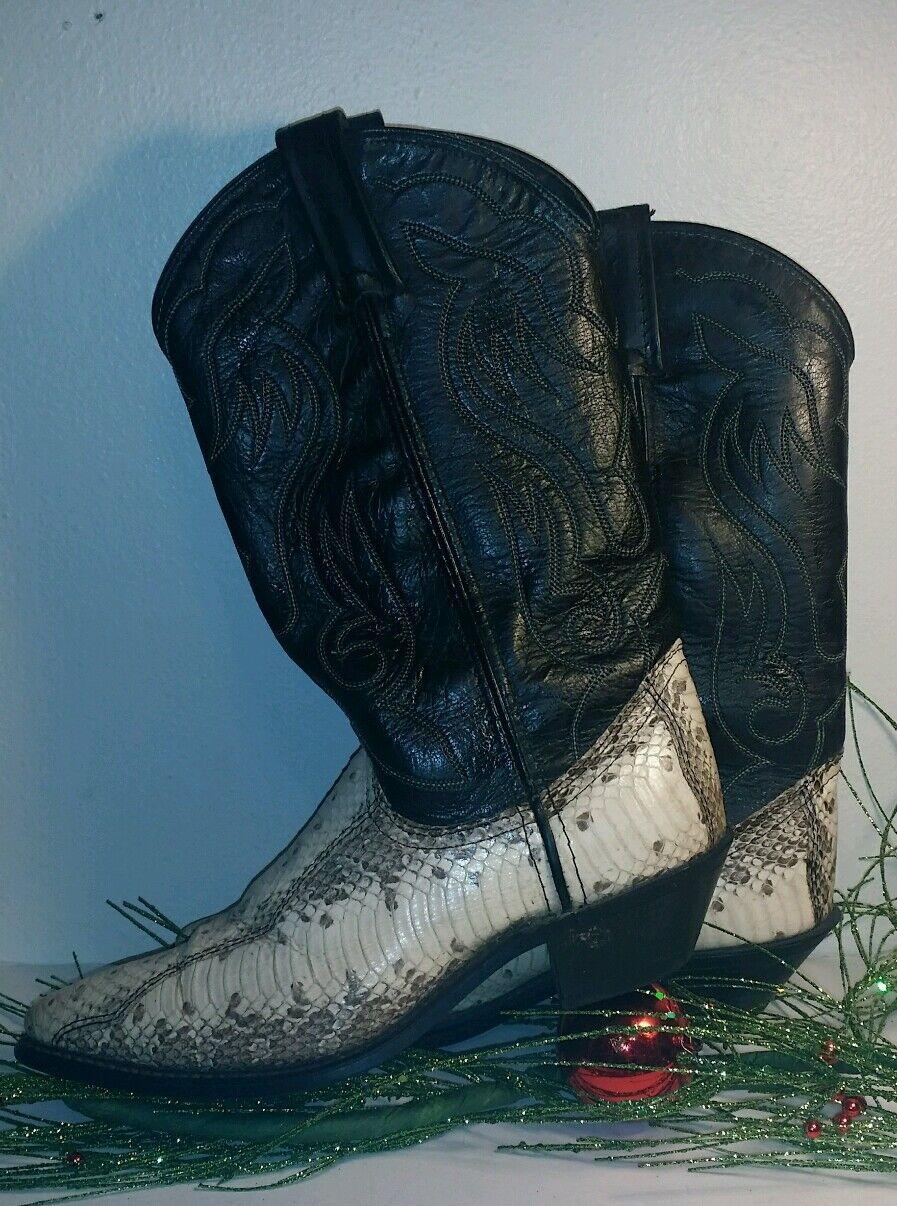 Acme Círculo una piel de serpiente Cuero Negro para para para Mujer botas De Vaquero Talla 6.5 M  10833-0370  tienda de bajo costo