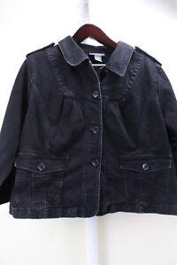 Motto-Cotton-Bend-Black-4-Button-Closure-3-4-Sleeve-Jacket-Size-1X