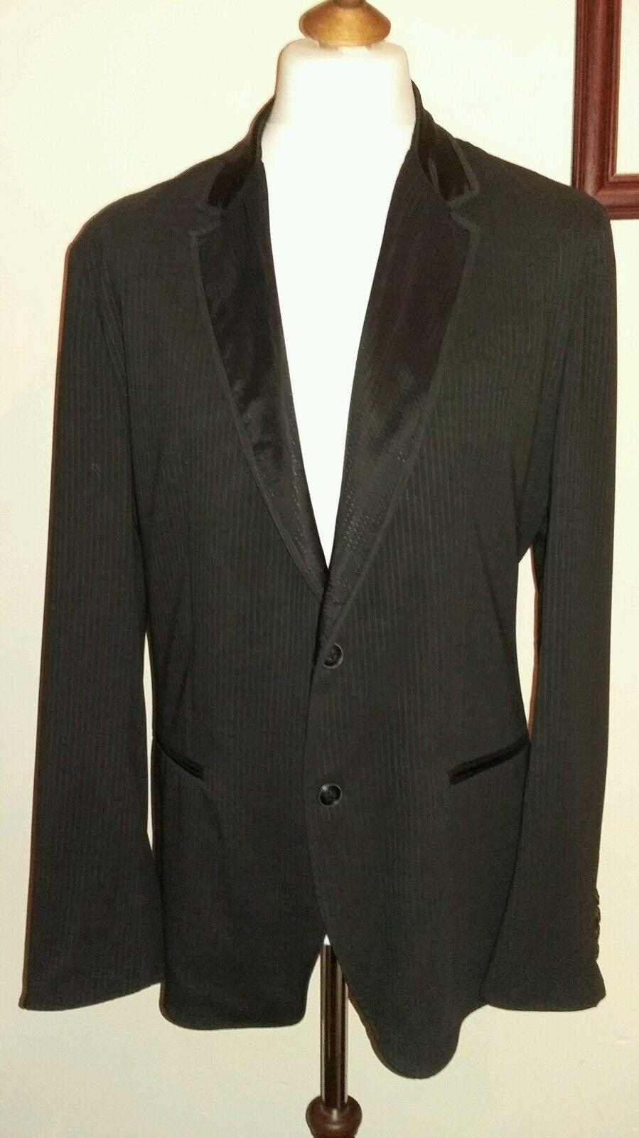 DOLCE & GABBANA SPORT (Italia) Cappotto Blazer Nero (Italia) SPORT Gessato Taglia 52 857f7c