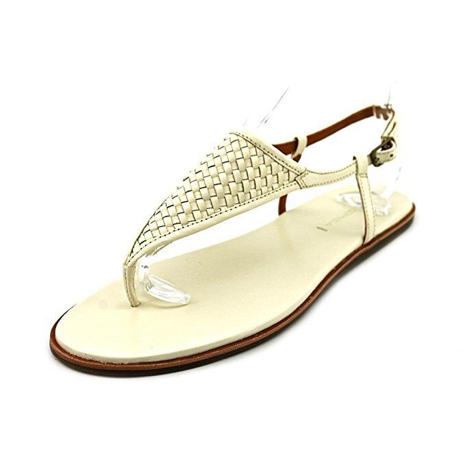 175 Via Spiga Women Aislin 2 Thong Sandals, Cream Leather, 7.5 M , New