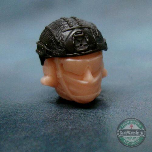 "MH392 Crye Helmet v2 Military Custom Cast Male head use w//3.75/"" GI Joe"