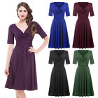 2017 Vintage Evening Cocktail Prom Party Pin UP Dress Swing 50s Retro Housewife