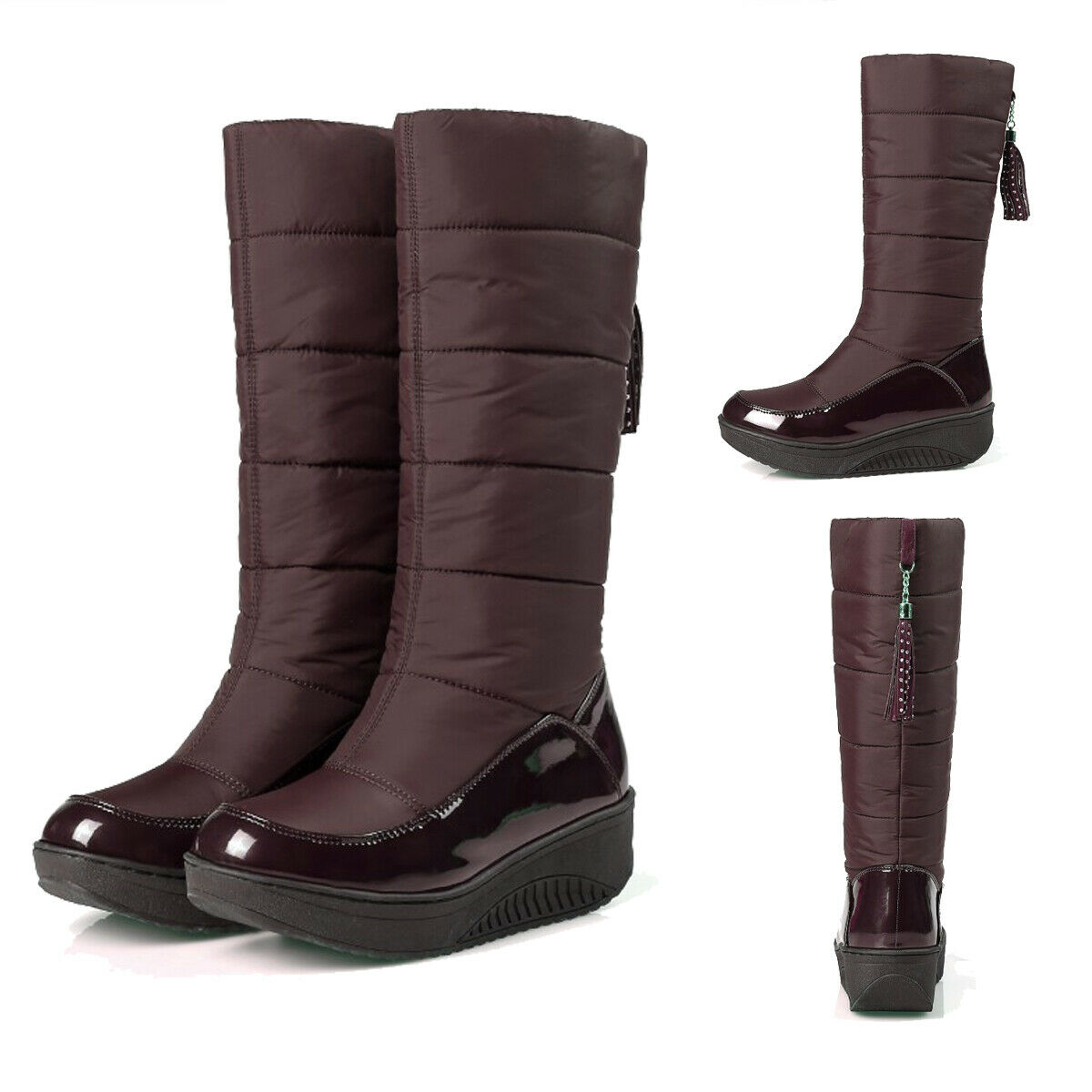 Women Winter Snow Boots Warm Cotton Blend Fur Lined Short Tube Ankle Boots shoes