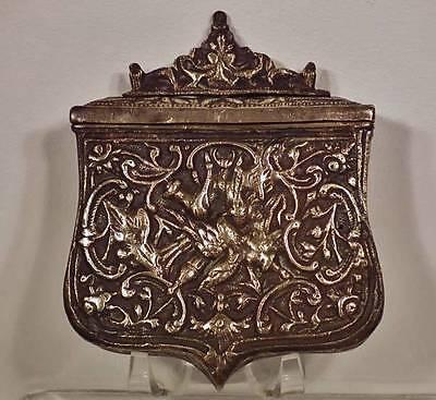 Fine Antique Islamic Turkish Ottoman Balkan Bronze Gun Cartridge Pouch Palaska