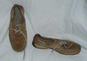Sperry Platinum Metallic Top Sider Boat Shoes Size 7.5 Superior Materials Comfort Shoes