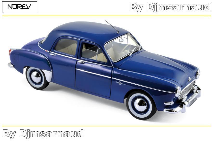 Renault Frégate de 1959 Capri Blue Blue Blue NOREV NO 185280 Echelle 1/18 | élégante Et Gracieuse  76b7ee