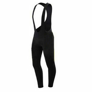 Men-039-s-Black-Cyclisme-Long-Bib-Pantalon-Rembourre-Velo-long-BIB-Collants-S-5XL