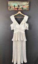 6081a36d5375 Authentic Self-Portrait Monochrome Stripe Midi Dress White Sz US2/UK6 NWT  $545