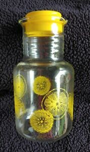 Vintage  Pyrex 2 Quart Glass Lemonade Orange Juice Pitcher Carafe 3520