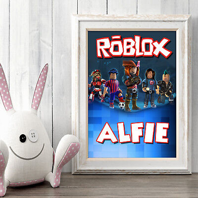 ROBLOX Personalised Poster A5 Print Wall Art Custom Name ✔ Fast Delivery ✔