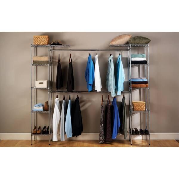Online Closets: Seville Classics Expandable Closet Organizer, SHE05813BZ