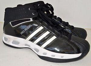 adidas pro model basketball shoes mens size 16 black