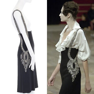 a30bc1d356da Image is loading runway-ALEXANDER-MCQUEEN-SS07-baroque-crystal-strass-black-