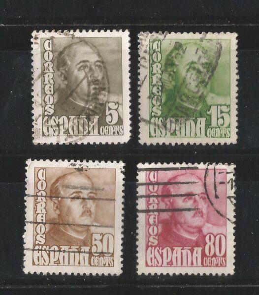 (l069) EspaÑa Franco - 1948-1954 - Edifil 1020/21/22/23