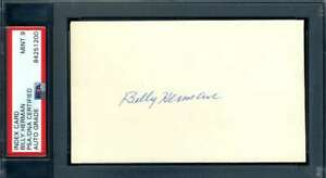 Billy-Herman-Mint-9-PSA-DNA-Coa-Autograph-Hand-Signed-3x5-Index-Card
