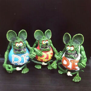 Green Rat Fink Ed Big Daddy Roth RF Action Figure 4/""