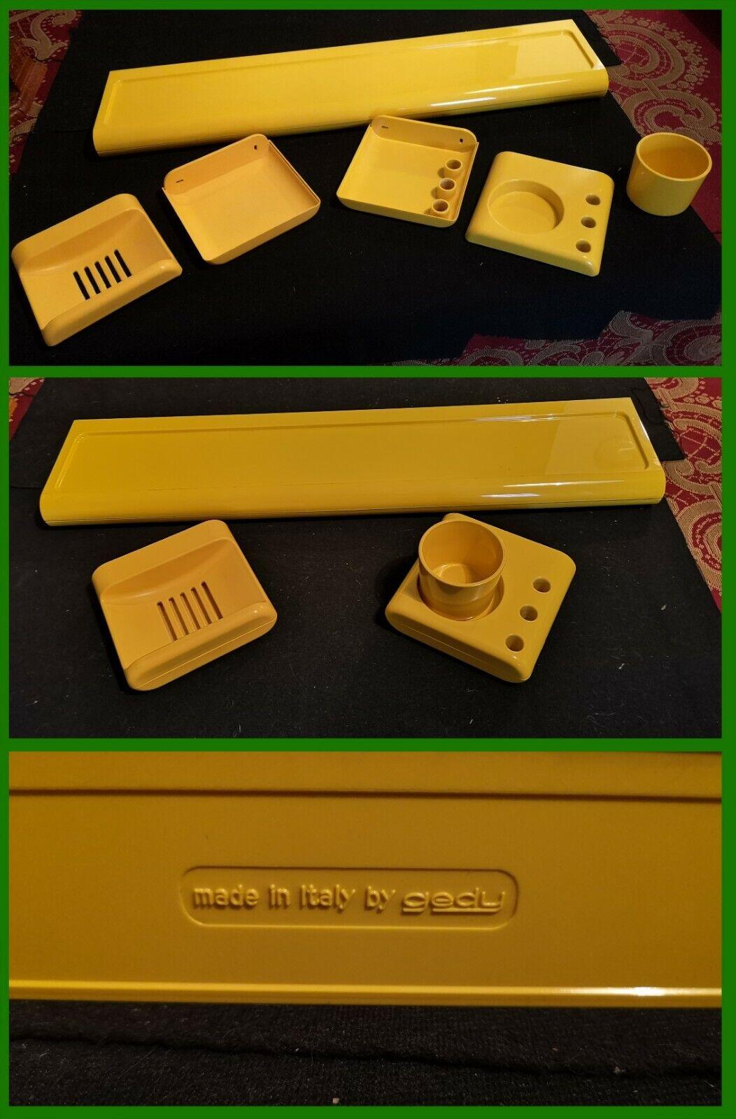 3 accessori bagno plastica Gedy - CONDIZIONI BUONE