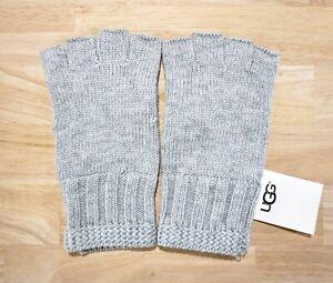 NWT-UGG-Women-039-s-Knit-Fingerless-Gloves-Grey-Heather-One-Size