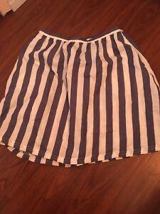 22bd478b7c Lauren Conrad LC Size XS Blue White Thick Vertical Stripe Mini Skirt ...
