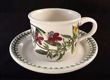 Portmeirion Botanic Garden Tea Coffee Cup & Saucer Viola Tricolor Heartsease VGC