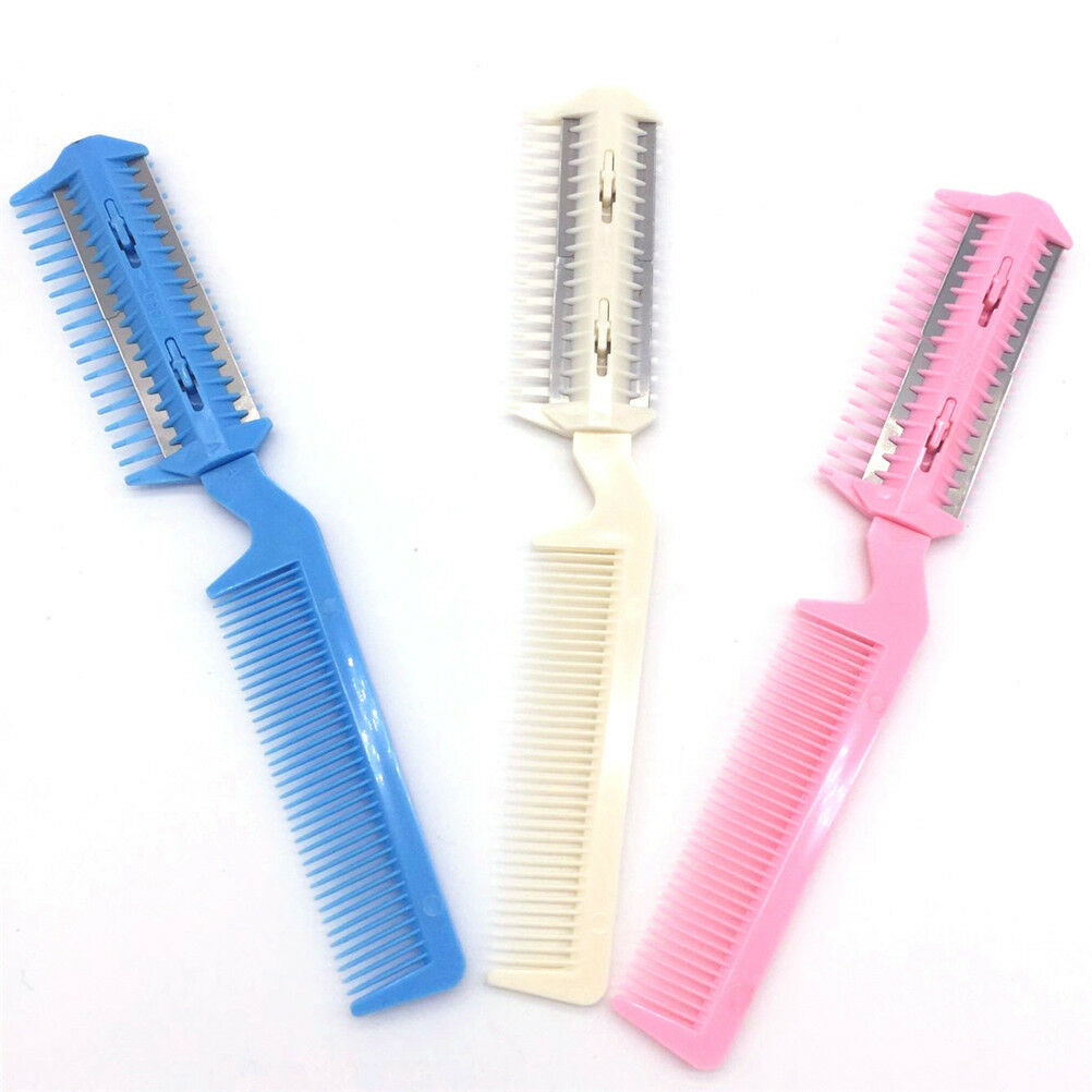 Pet Hair Trimmer Comb 10 Razor Rakes Cutting Grooming Clean Tool for Dog Cat