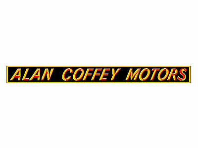 FORD DEALER DECAL ALAN COFFEY MOTORS SUIT XT XW XY XA XB XC ZC ZD ZG ZF