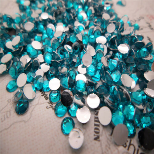 NEW DIY 4mm 1600pcs Facets Resin Rhinestone Gems Flat Back Crystal beads pick U