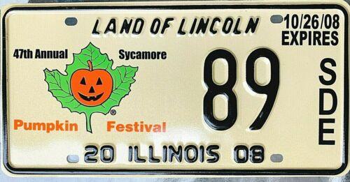 Halloween Pumpkin Illinois 2008 License Plate Garage Special Event Man Cave Gift