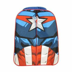 Marvel Captain America Plush Front Backpack School Bag New With Tags