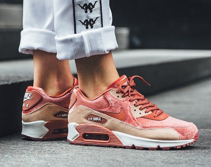 NIB WOMEN'S NIKE AIR MAX 90 LX DUSTY PEACH RARE WESOME STYLE COLOR SIZE 8.5