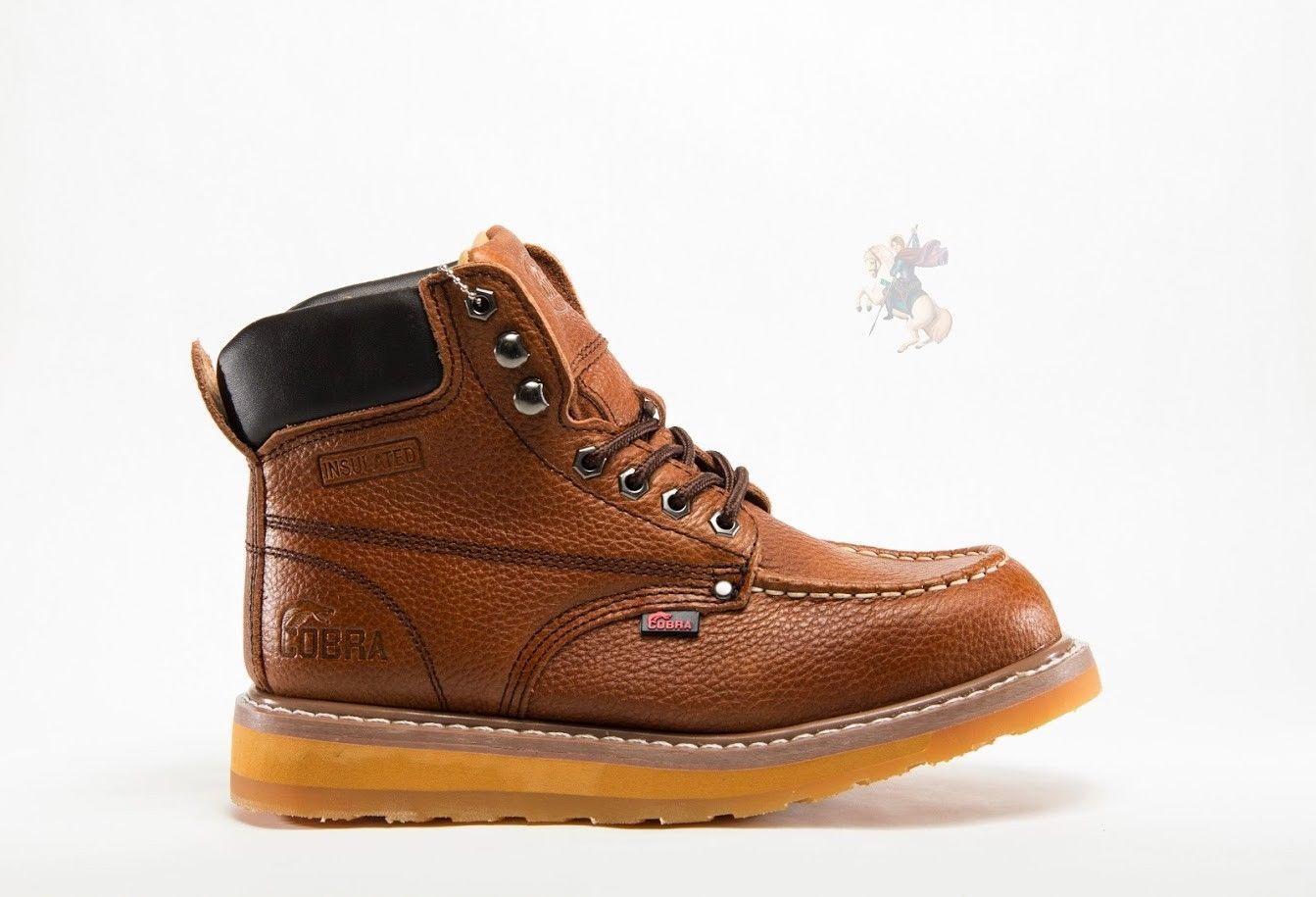 Men Work Boot Cobra C27M Dark Brown Genuine Leather Goodyear Welt Construction