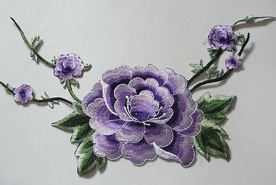 Rose Flower Cloth Applique Iron On Appliques Not Sewing Motif Embroidered Patch