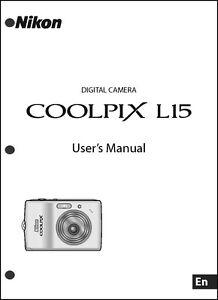 nikon coolpix l15 digital camera user guide instruction manual ebay rh ebay com  nikon coolpix l15 manual