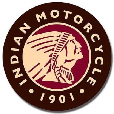 Indian Motorcycle Logo Round TIN SIGN metal garage bar poster ad wall decor 2160