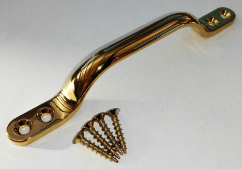 """10 x  SOLID BRASS VICTORIAN  SASH //BOW HANDLE 96MM//4/"""""""