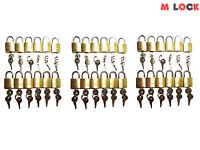 Lot Of 36 Small Brass Padlock (20mm) Mini Tiny Lock Box Jewelry Drawer Key Alike